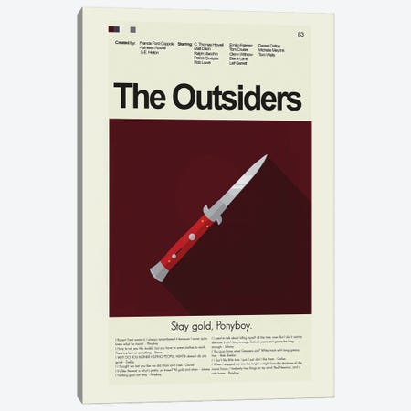 The Outsiders Canvas Print #PAG233} by Prints and Giggles by Erin Hagerman Canvas Art