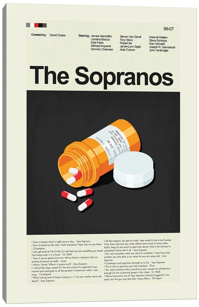 The Sopranos Canvas Art Print