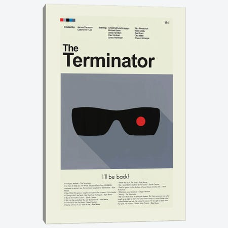 The Terminator Canvas Print #PAG238} by Prints and Giggles by Erin Hagerman Canvas Wall Art