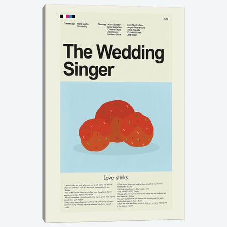 The Wedding Singer Canvas Print #PAG240} by Prints and Giggles by Erin Hagerman Canvas Art Print