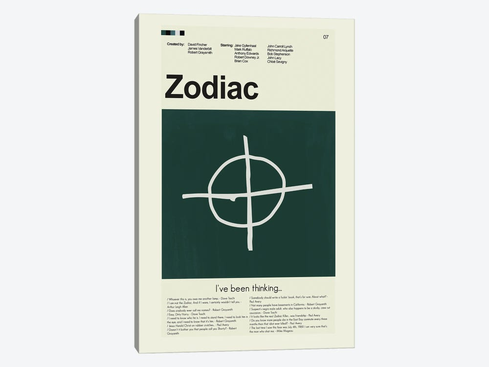 Zodiac by Prints and Giggles by Erin Hagerman 1-piece Canvas Art Print