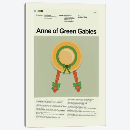 Anne of Green Gables Canvas Print #PAG255} by Prints and Giggles by Erin Hagerman Canvas Art Print