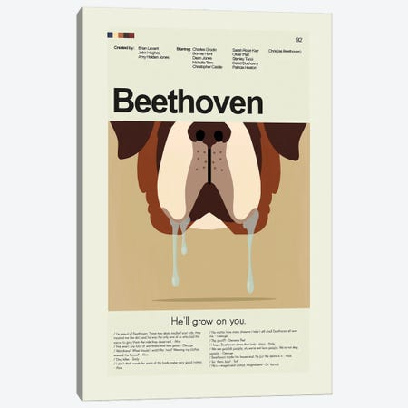 Beethoven Canvas Print #PAG258} by Prints and Giggles by Erin Hagerman Canvas Artwork