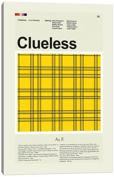 Clueless Canvas Art Print