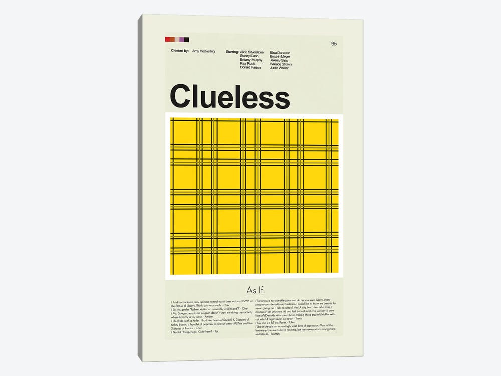 Clueless by Prints and Giggles by Erin Hagerman 1-piece Canvas Wall Art
