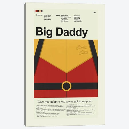 Big Daddy Canvas Print #PAG261} by Prints and Giggles by Erin Hagerman Canvas Print