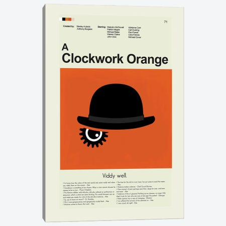 A Clockwork Orange Canvas Print #PAG269} by Prints and Giggles by Erin Hagerman Art Print