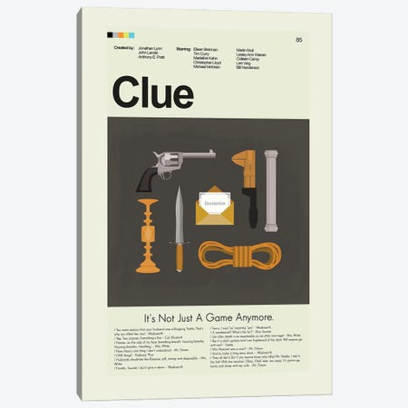 Clue Canvas Print #PAG270} by Prints and Giggles by Erin Hagerman Canvas Wall Art
