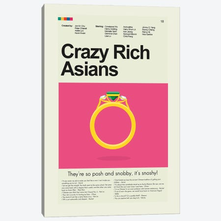 Crazy Rich Asians Canvas Print #PAG273} by Prints and Giggles by Erin Hagerman Canvas Wall Art