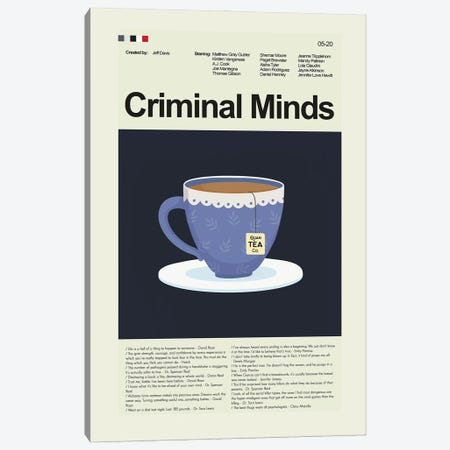 Criminal Minds Canvas Print #PAG274} by Prints and Giggles by Erin Hagerman Canvas Art Print