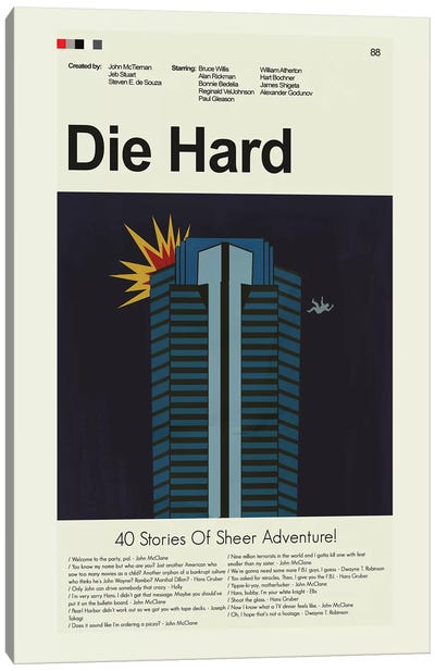 Die Hard Canvas Art Print