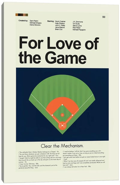 For Love of the Game Canvas Art Print