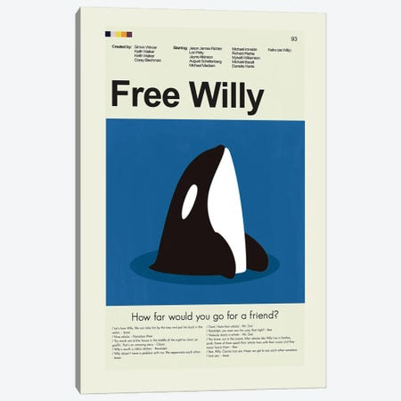 Free Willy Canvas Print #PAG287} by Prints and Giggles by Erin Hagerman Canvas Wall Art