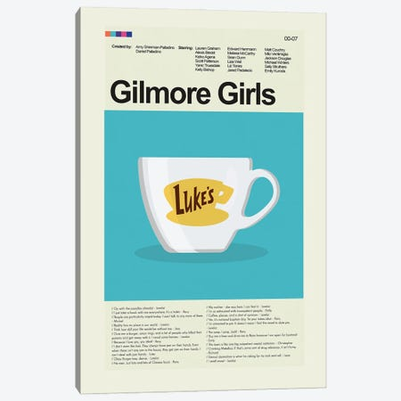 Gilmore Girls Canvas Print #PAG292} by Prints and Giggles by Erin Hagerman Canvas Art