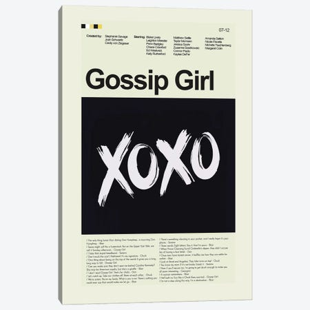 Gossip Girl Canvas Print #PAG294} by Prints and Giggles by Erin Hagerman Art Print
