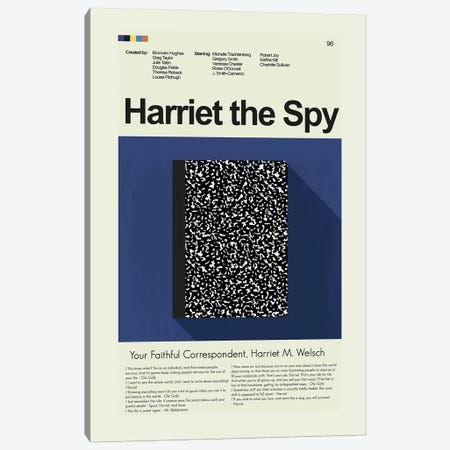 Harriet the Spy Canvas Print #PAG296} by Prints and Giggles by Erin Hagerman Canvas Art Print