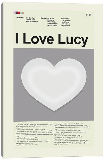 I Love Lucy Canvas Art Print