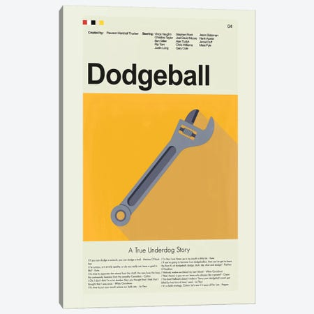 Dodgeball Canvas Print #PAG29} by Prints and Giggles by Erin Hagerman Art Print