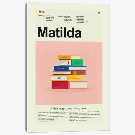 Matilda Canvas Print #PAG310} by Prints and Giggles by Erin Hagerman Canvas Art Print