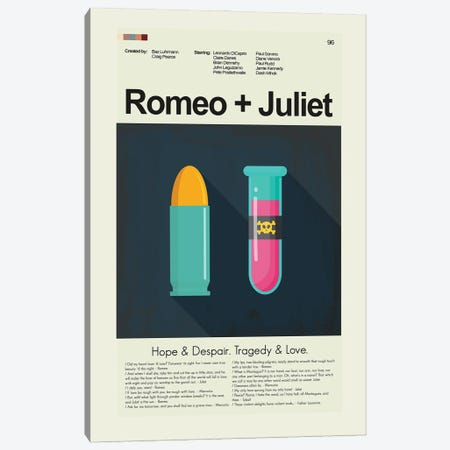 Romeo + Juliet Canvas Print #PAG329} by Prints and Giggles by Erin Hagerman Canvas Artwork