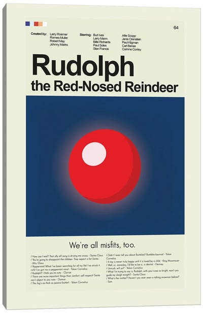 Rudolph the Red-Nosed Reindeer Canvas Art Print