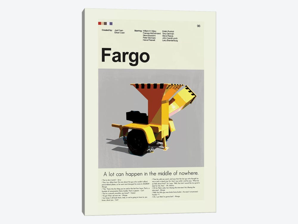 Fargo by Prints and Giggles by Erin Hagerman 1-piece Canvas Art Print
