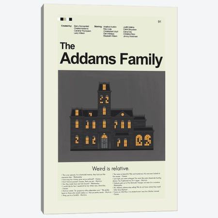 The Addams Family Canvas Print #PAG345} by Prints and Giggles by Erin Hagerman Canvas Print