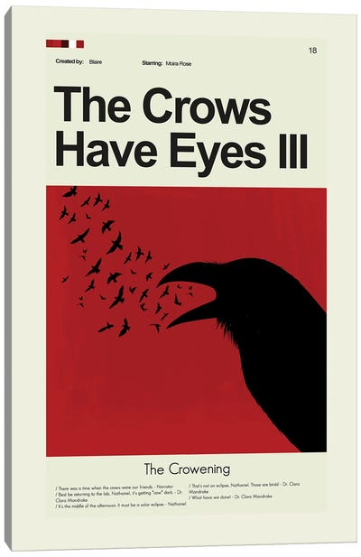 The Crows Have Eyes III Canvas Art Print