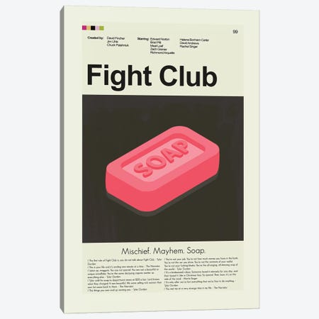 Fight Club Canvas Print #PAG34} by Prints and Giggles by Erin Hagerman Canvas Print