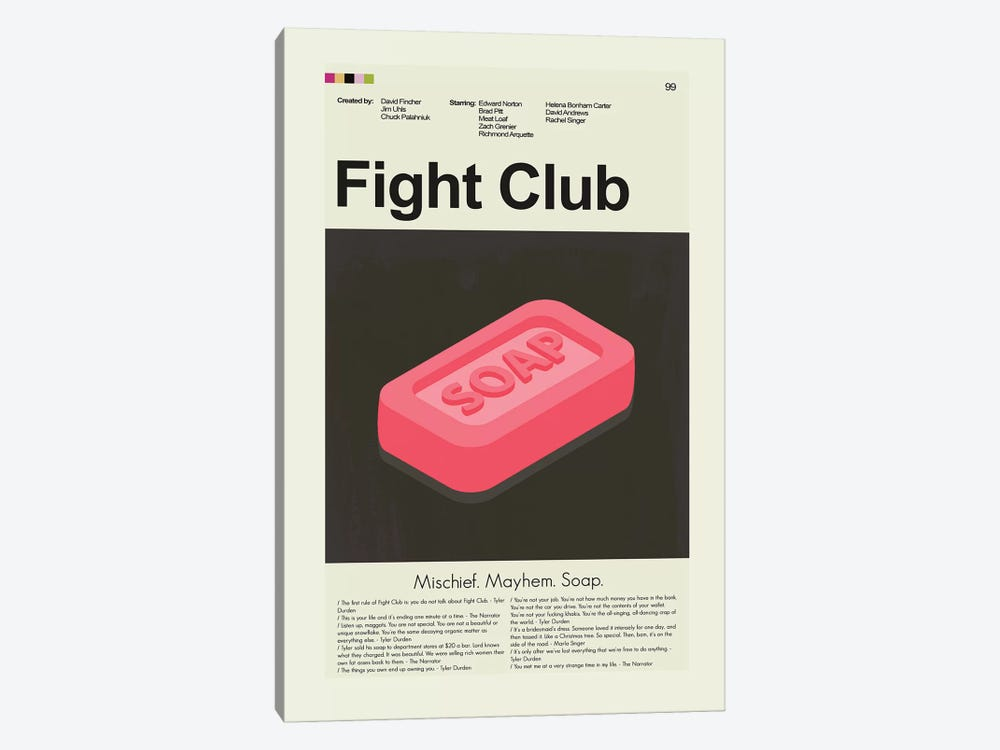 Fight Club by Prints and Giggles by Erin Hagerman 1-piece Canvas Wall Art