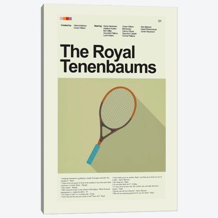 The Royal Tenenbaums Canvas Print #PAG357} by Prints and Giggles by Erin Hagerman Canvas Wall Art