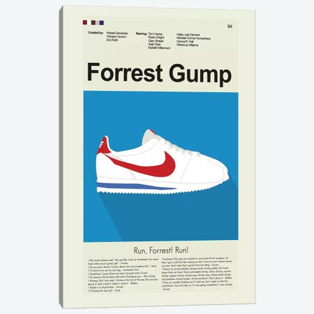 Forrest Gump Canvas Print #PAG35} by Prints and Giggles by Erin Hagerman Canvas Print