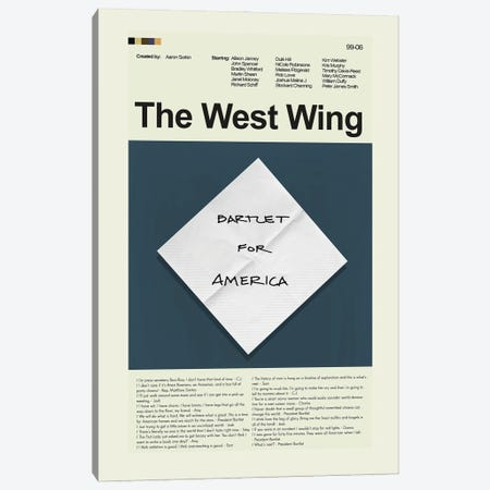 The West Wing Canvas Print #PAG361} by Prints and Giggles by Erin Hagerman Canvas Wall Art