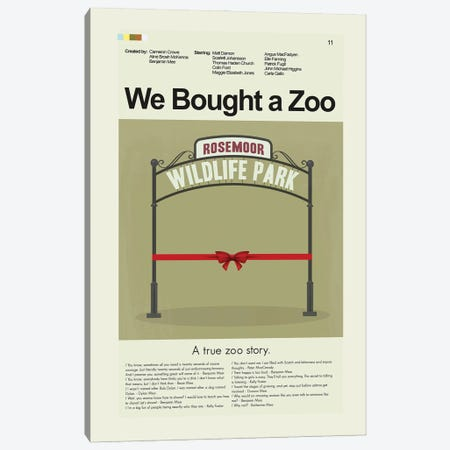 We Bought A Zoo Canvas Print #PAG369} by Prints and Giggles by Erin Hagerman Canvas Artwork