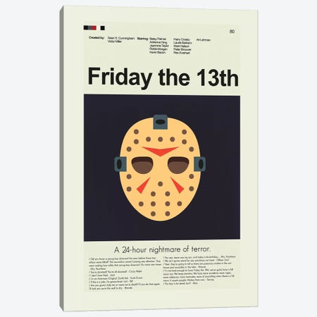 Friday The 13th Canvas Print #PAG36} by Prints and Giggles by Erin Hagerman Canvas Print