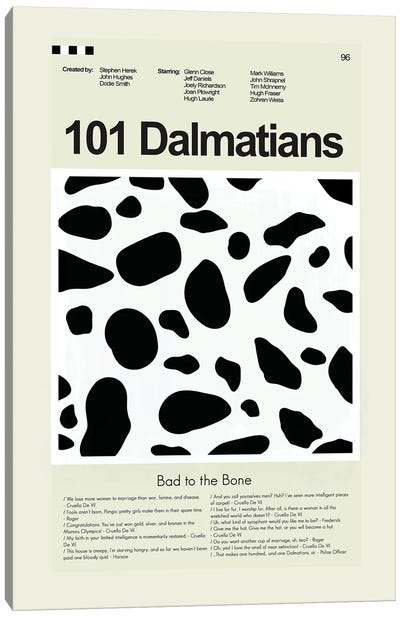 101 Dalmatians Canvas Art Print