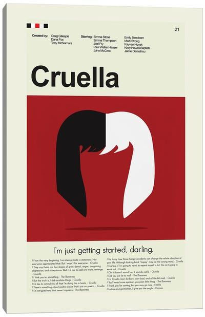 Cruella Canvas Art Print