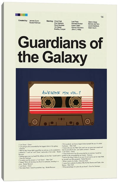 Guardians Of The Galaxy Canvas Art Print