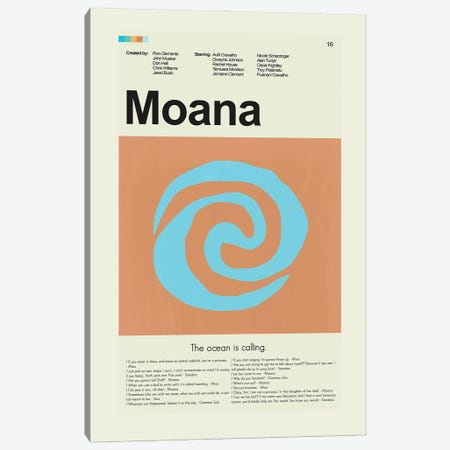 Moana Canvas Print #PAG380} by Prints and Giggles by Erin Hagerman Canvas Art