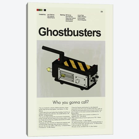 Ghostbusters Canvas Print #PAG38} by Prints and Giggles by Erin Hagerman Canvas Artwork