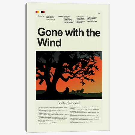 Gone With The Wind Canvas Print #PAG39} by Prints and Giggles by Erin Hagerman Canvas Wall Art