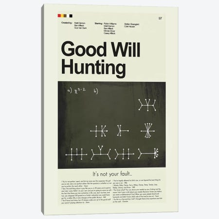Good Will Hunting Canvas Print #PAG40} by Prints and Giggles by Erin Hagerman Canvas Print
