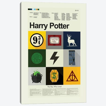 Harry Potter Canvas Print #PAG43} by Prints and Giggles by Erin Hagerman Canvas Art Print