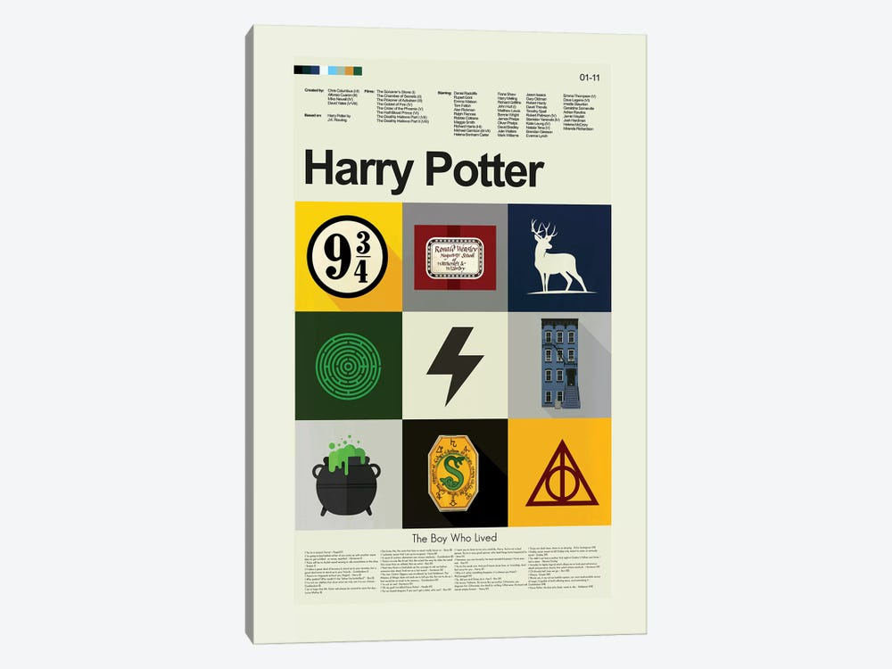 Harry Potter by Prints and Giggles by Erin Hagerman 1-piece Canvas Wall Art