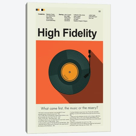 High Fidelity Canvas Print #PAG44} by Prints and Giggles by Erin Hagerman Canvas Wall Art