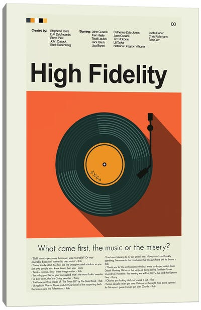 High Fidelity Canvas Art Print