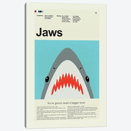 Jaws Canvas Print #PAG49} by Prints and Giggles by Erin Hagerman Canvas Art Print
