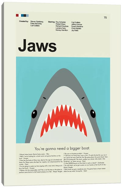 Jaws Canvas Art Print