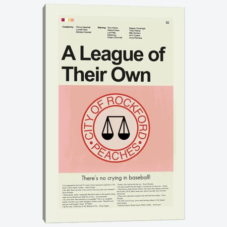 A League Of Their Own Canvas Print #PAG4} by Prints and Giggles by Erin Hagerman Art Print