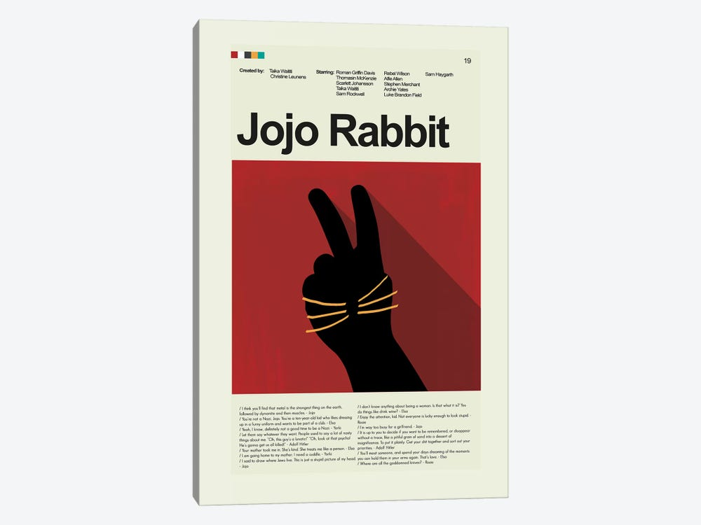 Jojo Rabbit by Prints and Giggles by Erin Hagerman 1-piece Canvas Wall Art